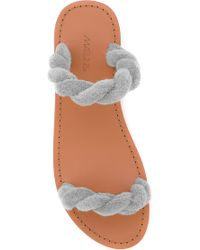 Maslin & Co - Classic Twisted Terry Cloth Slide In Beige - Lyst