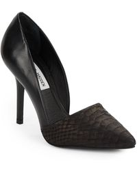 Steve Madden Embossed Leather D'Orsay Pumps - Lyst