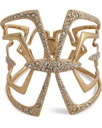 Alexis Bittar Kinetic Crystal Encrusted Mirrored Hinged Bracelet - Lyst