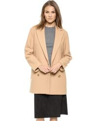 Theory Nest Washed Cafe Coat   - Lyst