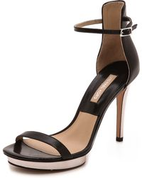 Michael Kors Collection Doris Platform Strap Sandals  Black - Lyst