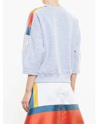 Ostwald Helgason - Jersey Sweatshirt With Mikado Silk Panels - Lyst