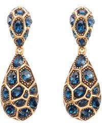 Oscar de la Renta Pave Crystal Geometric Earrings - Lyst