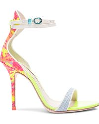 Sophia Webster Nicole Camo 100Mm Leather Heels - Lyst