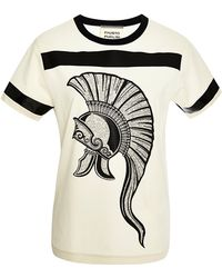 Fausto Puglisi Spartan Embroidered Cotton T-Shirt - Lyst