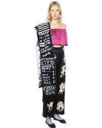 Claire Barrow | To Do List Fringed Wool Scarf | Lyst