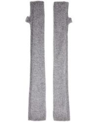 Helmut Lang Grey Lux Cashmere Fingerless Gloves - Lyst