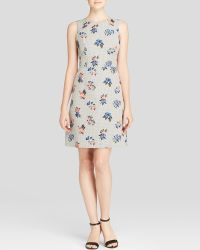 Shoshanna Dress - Penelope Sleeveless Floral Jacquard Fit And Flare - Lyst