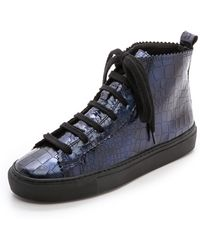 Rachel Comey Pops High Top Sneakers - Croco Satinado - Lyst
