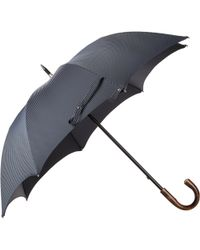 Barneys New York - Compact Pinstripe Folding Umbrella - Lyst