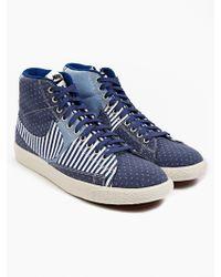 Nike Men'S Patchwork Denim Blazer Mid Prm Vntg Sneakers - Lyst
