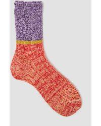 Mauna Kea - Half Tone Sock Red/purple - Lyst