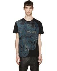 Alexander McQueen Black Double Skull T_Shirt black - Lyst