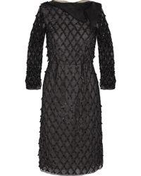 Erdem Adelia Embellished Silk-chiffon Dress - Lyst