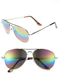 Fantaseyes - 56mm Aviator Sunglasses - Lyst