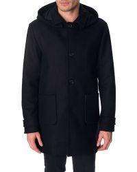 Menlook Label Shawn Navy Coat - Lyst