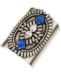 DANNIJO Oakli Crystal Cuff Bracelet - Lyst