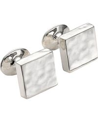 Monica Vinader - Sterling Silver Square Cufflinks - Lyst