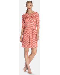 Tahari Petite Women'S Print Jersey Fit & Flare Dress - Lyst