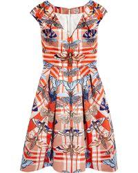 Temperley London Arielle Printed Satin-twill Dress - Lyst