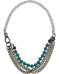 Proenza Schouler - Guru Aluminium Cord and Brass Necklace - Lyst