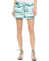 Haute Hippie Summer Shorts - Teal Multi - Lyst