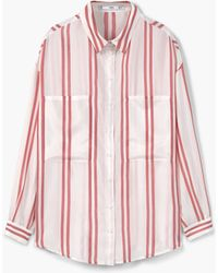 Mango | Oversize Striped Shirt | Lyst