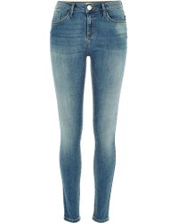 River Island Mid Wash Amelie Superskinny Jeans - Lyst