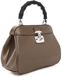 Gucci Lady Lock Medium Leather Tote - Lyst