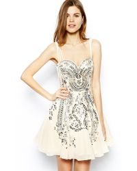 Forever Unique Plus Size Flora Embellished Dress - Lyst