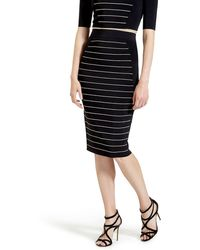 Ted Baker | Shelpa Metallic Stripe Pencil Skirt | Lyst