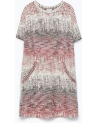 Zara Knit Dress pink - Lyst
