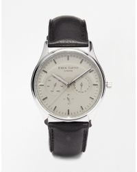Simon Carter - Chronograph Leather Strap Watch - Lyst