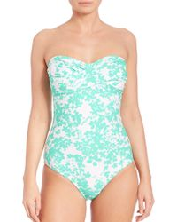 Shoshanna | One-piece Beach Vine Twist Swimsuit | Lyst