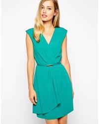 Oasis Plain Tuck Crepe Dress - Lyst
