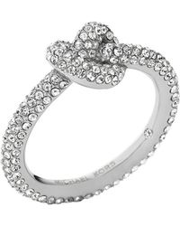 Michael Kors - Knotted Encrusted Ring - Lyst