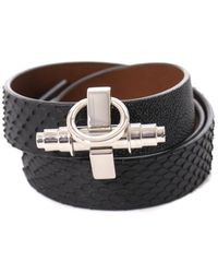 Givenchy - Triplewrap Shagreen and Python Bracelet - Lyst