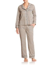 Liberty Geometric Print Pajamas - Lyst