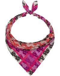 Teatum Jones - Pink Digital Print Silk Scarf - Lyst