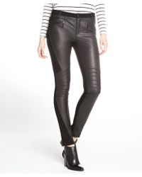 Rebecca Minkoff Black Leather and Stretch Knit Avenue Pants - Lyst