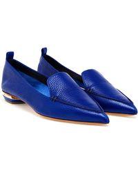 Nicholas Kirkwood Blue Textured Loafers - Lyst