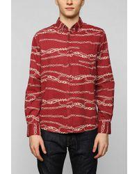 Vanishing Elephant X Uo Chains Buttondown Shirt - Lyst