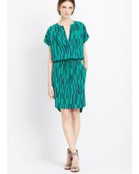 Vince Piano Print Silk Dress - Lyst