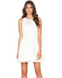 Alice + Olivia Gilda Embellished Dress - Lyst