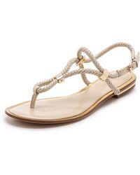 Michael Kors Hartley Flat Sandals - Black - Lyst