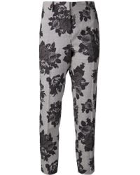 MSGM Floral Trousers - Lyst