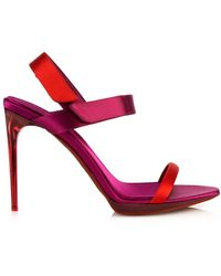 Burberry Prorsum Calcoat Colour-Block Satin Sandals purple - Lyst