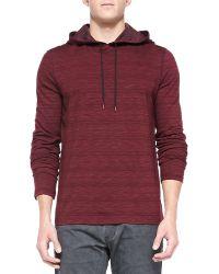 John Varvatos Space-dyed Pullover Hoodie - Lyst