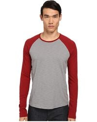 Vince Red Baseball Tee - Lyst