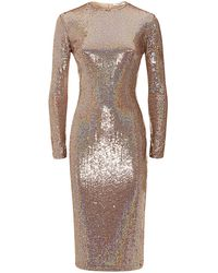 Givenchy Sequinned Long Sleeve Dress - Lyst